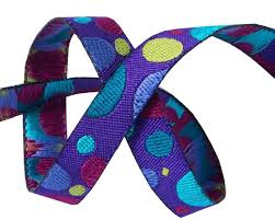 wholesale ribbon supply buy ribbons mini broken dots on purple zecca renaissance ribbons