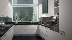 kitchen design amusing black white modern small space kitchen
