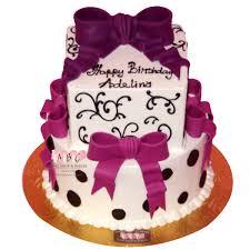 2132 2 tier birthday cake with round bottom u0026 square top abc
