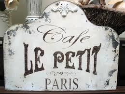 Vintage Powder Room Sign Americana Decor Stencil French Style Shabby Chic Cafe De Flore