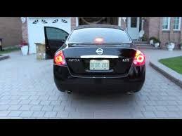 nissan altima tail light cover 2008 nissan altima tinted stock tail lights vs black jdm led tail