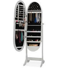 Jewelry Cabinet Mirror Armoire Mesmerizing Free Standing Jewelry Armoire Mirror Design