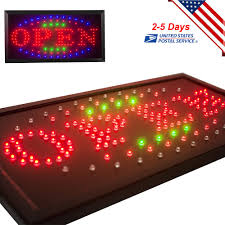 shop open sign lights 110v bright animated motion running neon led business shop open sign