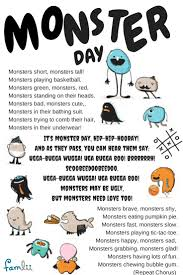 Halloween Short Poem It U0027s Monster Day Hip Hip Hooray Halloween Song For Preschoolers