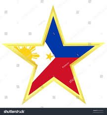 Flag Philippines Picture Gold Star Flag Philippines Stock Vector 58463560 Shutterstock
