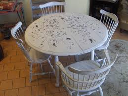chabby chic hand painted dining table and chairs 1 000 00 via