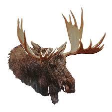 moose head metal wall art