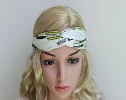 cloth headbands fashion 2016 korean stripe cactus cloth cross hair knot