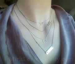 personalized horseshoe set layered necklace set of 4 personalized gold bar necklace eternity