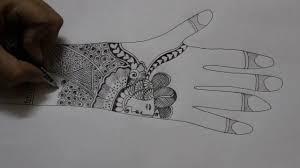 bridal mehndi design pencil sketch youtube