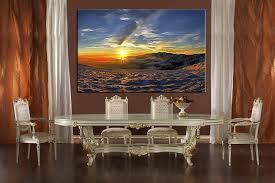 1 piece canvas blue artwork landscape wall decor canvas prints