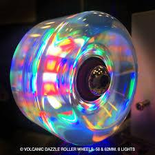 light up roller skate wheels volcanic lightup quad skate wheels in outdoor volcanic wheel