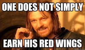 Red Wings Meme - earn your red wings