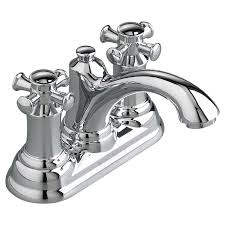 portsmouth centerset bathroom faucet cross handles american