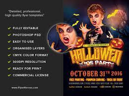 halloween kids party template flyerheroes