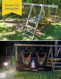 Backyard Swing Set Ideas by Best 20 Outside Swing Ideas On Pinterest Outside Playhouse