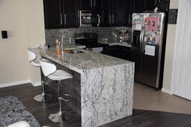 Kitchen Sink Island Furniture Swivel Barstool With Back And Waterfall Countertop Also