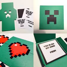 minecraft s day cards block s day card kit diy gamer vday cards school