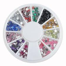 3d nail art rhinestones glitters mixed colors 3d nail jewelry star