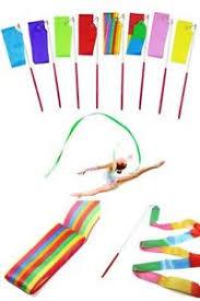 ribbon streamers baton twirling colors twirl 8pcs rhythmic gymnastic