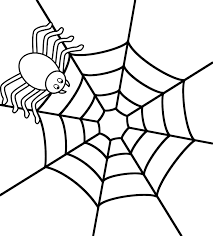 Spider Web Coloring Pages Geekbits Org Spider Web Coloring Page