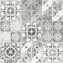 kitchen and bathroom wallpaper in tile effect substitutes
