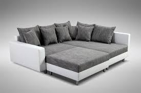 sofa grau weiãÿ modernes sofa ecksofa eckcouch in weiss eckcouch mit hocker