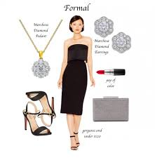 little black dress for date night with x3 diamond earrings the
