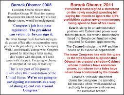 The President S Cabinet Includes 2008 V 2011 U2013 Obama On Signing Statements