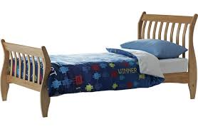 Pine Sleigh Bed Frame Harry Single Sleigh Bed Frame With Bibby Mattress Pine 2286334