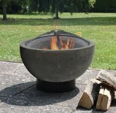 Clay Firepit Caleta Concrete Effect Clay Firebowl 5055025591199 Garden Clay