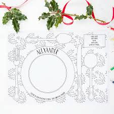 home design colour in christmas dinner placemats pack claireclose