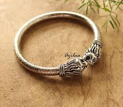 silver plated bangle bracelet images Lion head silver plated bangle bracelet at 950 azilaa jpg
