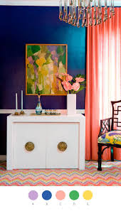 Curtain Color For Orange Walls Inspiration 15 Inspiring Color Blocked Interiors Peacock Blue And
