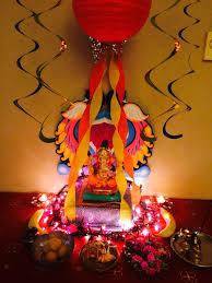 interior design cool decoration themes for ganesh festival