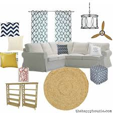 Coastal Livingroom by Cozy Coastal Living Room Refresh U0026 Wayfair Ca Launch The Happy