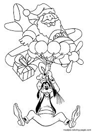santa claus airplane goofy hanging balloons