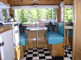 mid century vintage camper trailers love the leather seats and