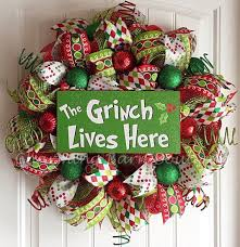 grinch christmas decoration christmas wreath grinch wreath the grinch lives here