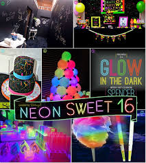 theme ideas neon glow in the sweet 16 party theme ideas neon glow
