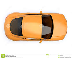 isolated yellow modern car top view stock illustrations u2013 64