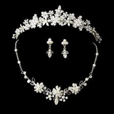 Muito Tiaras e Coroas para Noiva Conjunto de tiara, brincos e colar Great #GG38