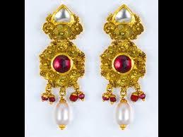 top 12 josalukkas gold ear jhumka designs indian jewels