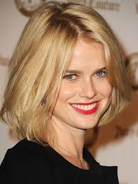 hairstle longer in front than in back alice eve younger a jagged part and mussed up angled cut looks