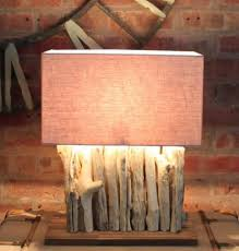 driftwood root natural wood table lamps u2013 cowshed interiors