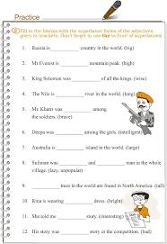 brilliant ideas of degrees of adjectives worksheets for grade 6
