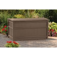 Patio Cushion Furniture Gallon Deck Box Walmart Patio Cushion Storage Box In