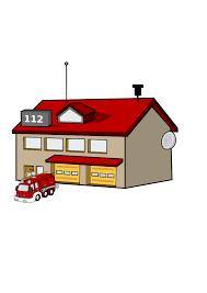 A Cartoon Barn Cartoon Fire Station Clip Art At Clker Com Vector Clip Art