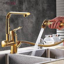 gold kitchen faucet buy gold brass kitchen faucet pull and get free shipping on
