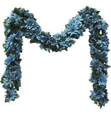 aqua turquoise blue chain garland silk wedding flowers arch